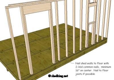 Nailing walls to floor