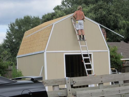 Drip edge is essential for all shed building
