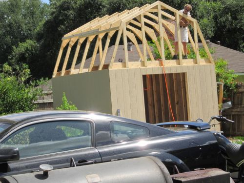 Extra framing for the 12x16 barn shed end trusses