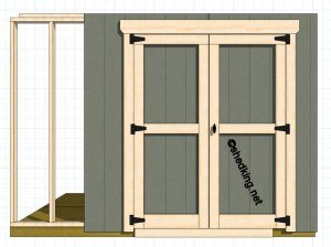 & Double Shed Doors