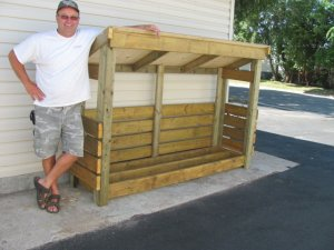 2x8 firewood storage shed plans
