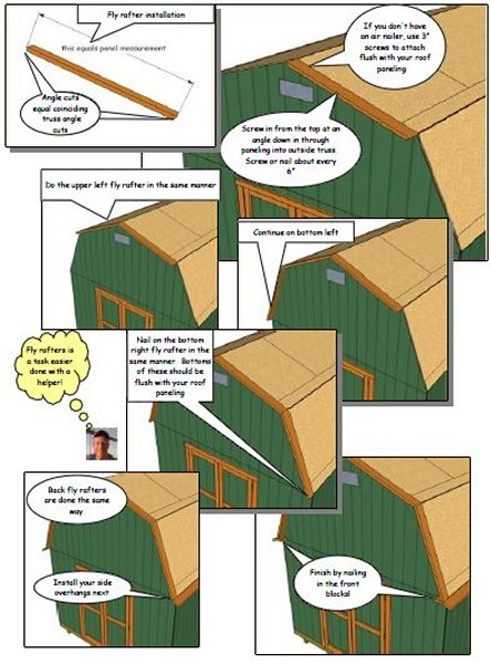 shed roof flys and overhangs