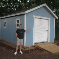 Garage door shed ideas