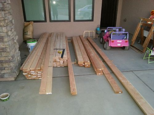 lumber delivered and ready to go