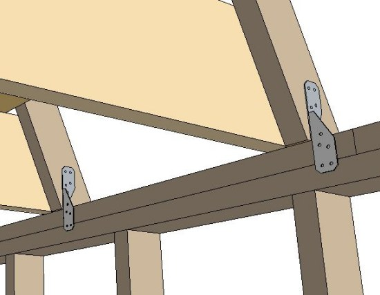 hurricane fastener for securing roof rafters