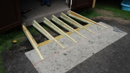 Adding a shed ramp to your shed floor