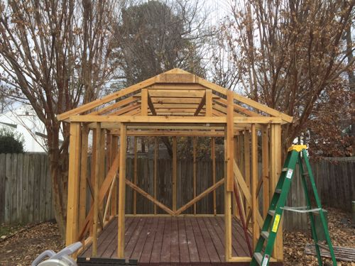 rods gable shed framing