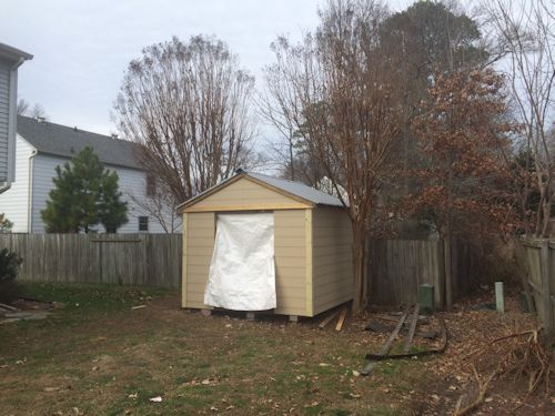 rods gable shed with siding on