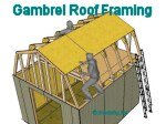 gambrel shed roof framing