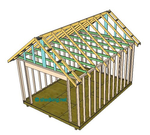 gable style roof framing