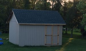 sarahs garden shed with front doors