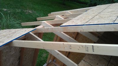 sheeting the roof on sarahs garden shed