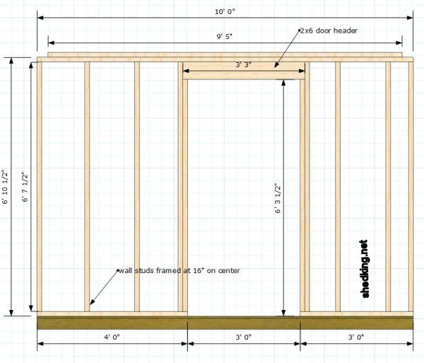 framing for a single shed door