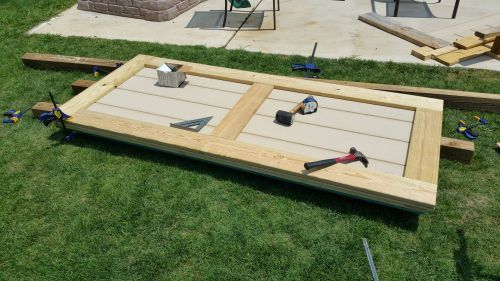 How to build shed doors.