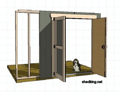 Shed doors and easy ways to build them for Double door shed plans