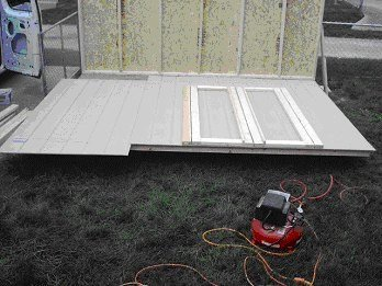 Another way to build shed doors