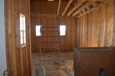 a chicken coop shed loft