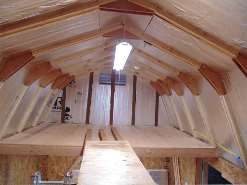 lighting being used for this shed loft
