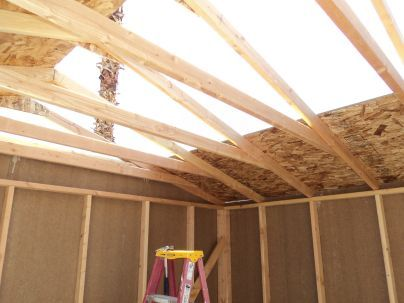 low shed loft space in saltbox sheds