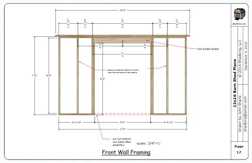 A page from one of my shed plans.