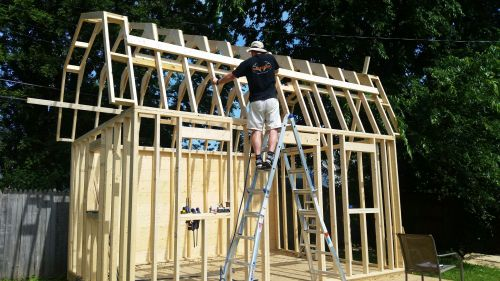 How to build a shed roof.
