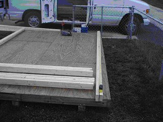 build storage shed walls