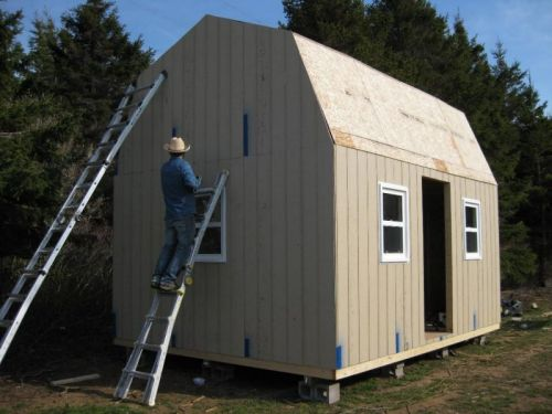 How to add siding to your shed.