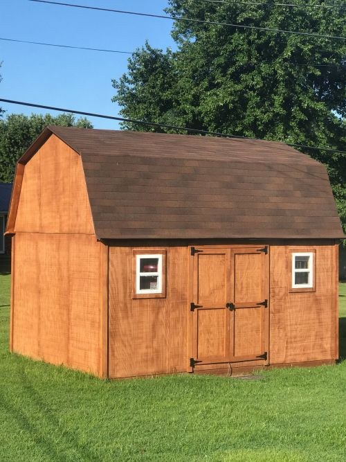 pictures of sheds: steve's 12x16 barn shed