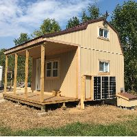Off grid cabin shed idea