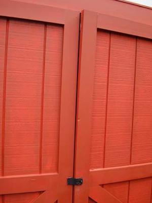 Warping shed doors.