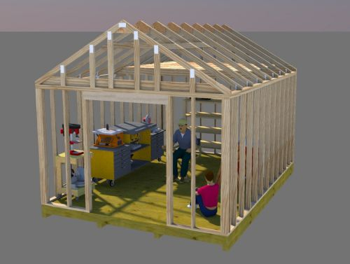12x16 Storage Shed Plans Diy Woodworking