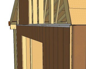 protecting the horizontal edges of your shed siding
