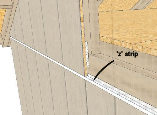 Protect Siding With Z Weather Strip Flashing